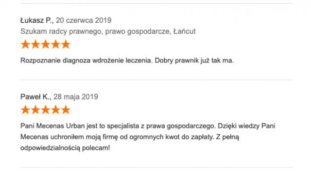 kancelaria adwokat Rzeszów pozytywne opinie