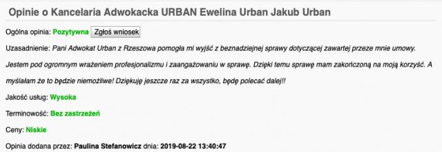 adwokat Rzeszów kancelaria komentarze opinie oskuteczności